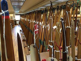 Row of longbows