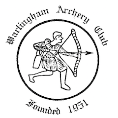 Club logo, black and white with text