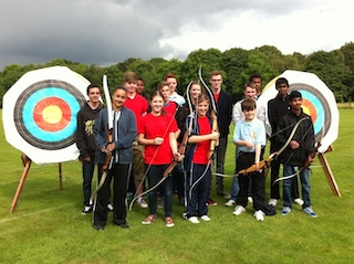 Warlingham Air Cadets having a Taster session at the Club