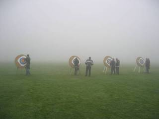 Archery in the fog at Warlingham
