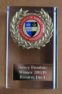 Frostbite Recurve 1st division trophy 2018-19